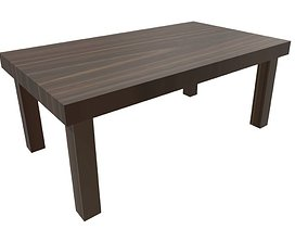 3D model Simple Low-Poly Table