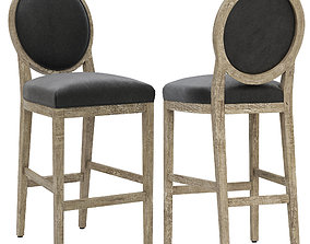 Restoration Hardware French Contemporary Round Leather 3D