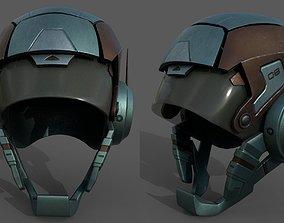 Helmet scifi military armor develop fantasy 3D model