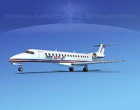 3D model Embraer ERJ-140 Trans South Jet