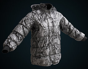 3D model Snowboarding winter jacket