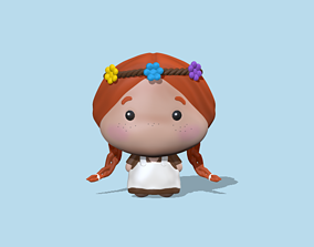 A cute Anne Fanart to decorate and play 3D print model
