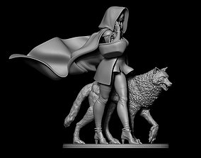 3D printable model red ridding hood