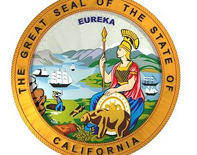 California seal 3D