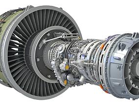 3D PW GTF Geared Turbofan Engine
