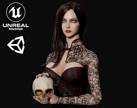 3D asset Lady Vamp - Game Ready