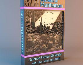 Sci-Fi Manhattan 3D Models city
