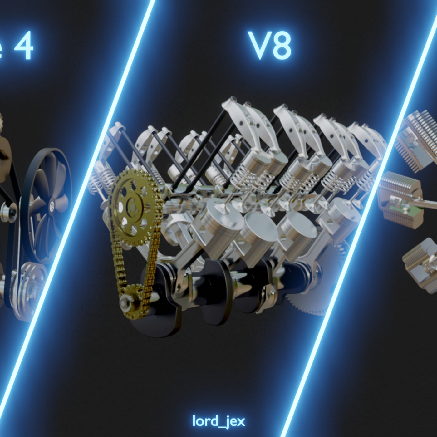 In-Line Four, V8 and Radial Engines
