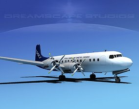 3D Douglas DC-7C Transpacific Charter