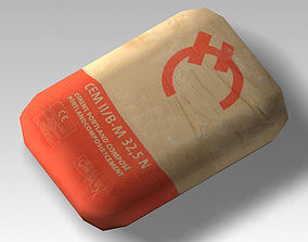 Bag 05 cement bag 3D asset