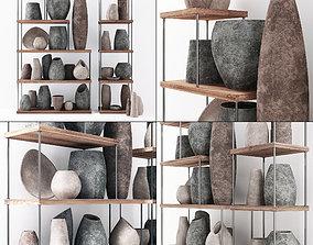 Dishes stone decor 3D