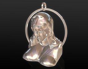 jesus 3D print model Mother Mary Pendant