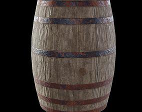 3D asset Barrel Wooden