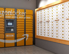 125 mail box amazon locker chill locker with 3D model 1