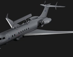 Saab GlobalEye - Airborne Early Warning and 3D model 1