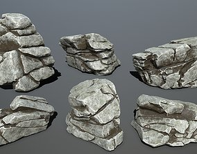 rock set 3D asset realtime canyon