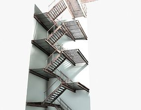 metal stairs collection 3D asset realtime