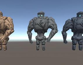 dracon85 Golem Three Texture Variations 3D asset