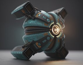 Space drone 3D model realtime