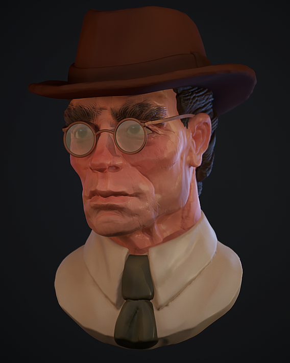 Portrait of a man in a hat.