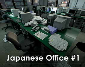 3D asset Japanese Office Pack - Over 100 Models