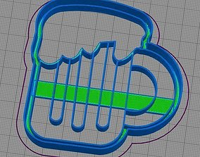 3D print model Beer Cookie Cutter