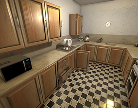 3D model Apartment Kitchen for Unity