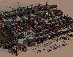 Mega Roman City Pack 3D model realtime