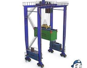 3D model Rubber tyred gantry crane