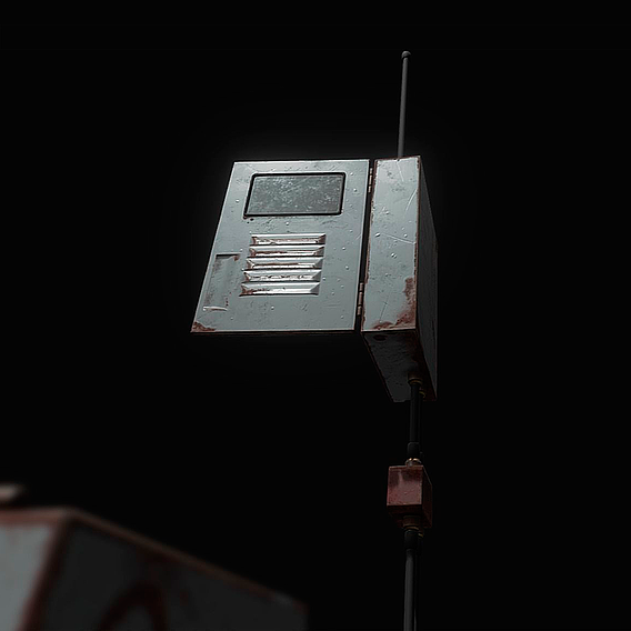 Distribution Box Low-poly 3D model