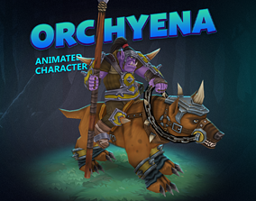 Orc hyena animated character 3D model realtime