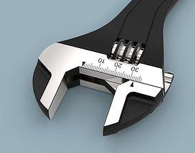 3D model hex Adjustable wrench