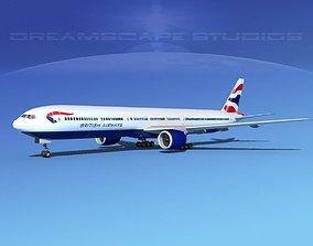 Boeing 777-300 MP British Airways 3D