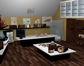 3D model Archaeology lab and office