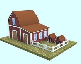 Barn Low-poly 3D model