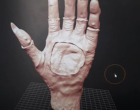 3D printable model hands with glove