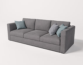 3D model grey-sofa