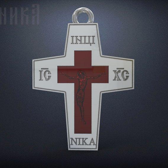 Orthodox cross under the enamel