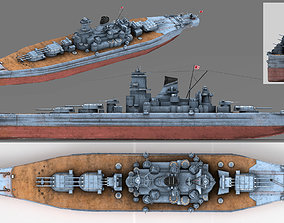 3D model Japanese battleship Musashi