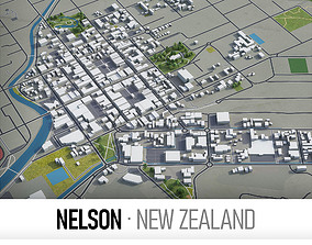 Nelson - city and surroundings 3D model