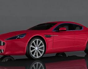 3D model low-poly Aston Martin Vantage
