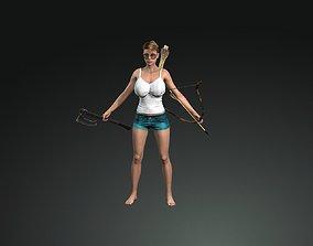 Sexy Busty Nude Lara Girl Model Gameready animated