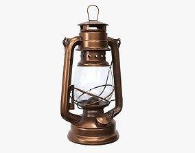 3D model Old kerosene metal lamp 02