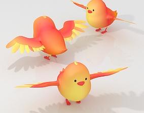 3D model Cartoon small Bird chick