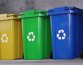 Recycle Bin plastic 3D
