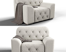 3D model Vegas Latte Armchair