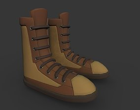 3D asset Boots Brown