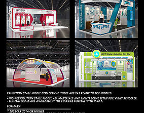 3D model Exhibition stall Collection