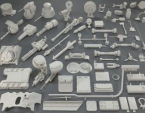 3D asset Tank Parts -61 pieces- collection-4