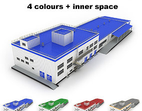 Large industrial building 35 3D
